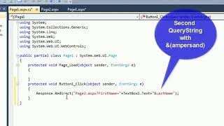 Query String in ASP.Net c# with example. QS Parameter C#
