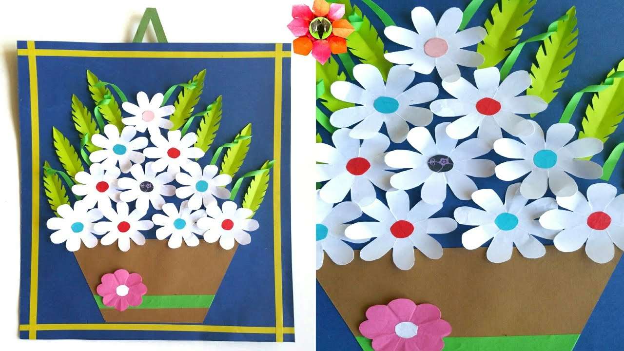Wall Hanging Flower Pot Bouquet Decoration DIY Tutorial