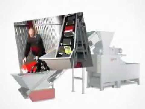 Video of the JBF DCM 800 17.5-18.2kW Data Desctruction Shredder Shredder