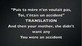 Dégénération by Mes Aïeux--Original lyrics and translation to English