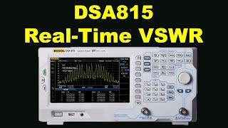 RIGOL DSA815 Spectrum Analyser Discovers Real-time VSWR Of 144MHz 2m Antenna... In Real Time