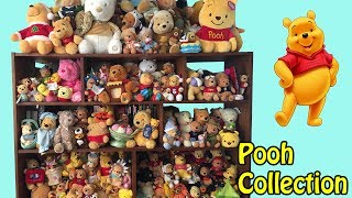 My Disney Winnie The Pooh Plush Collection Room Tour Video OVER 250 POOH BEARS