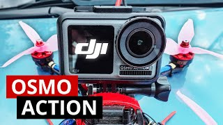 Osmo Action тест на гоночном FPV дроне. Сравнение с GoPro 7