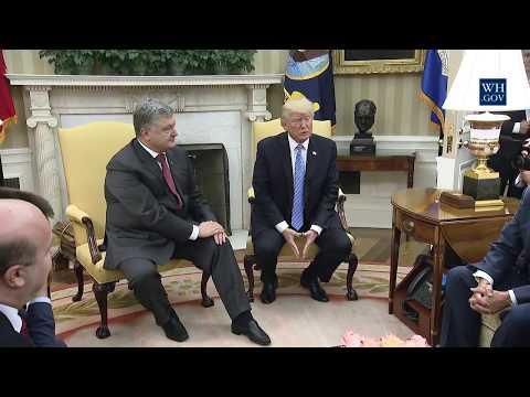 President Trump Meets with President Petro Poroshenko of Ukraine