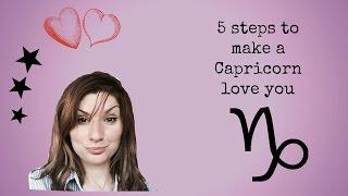 5 steps to make a Capricorn  love you