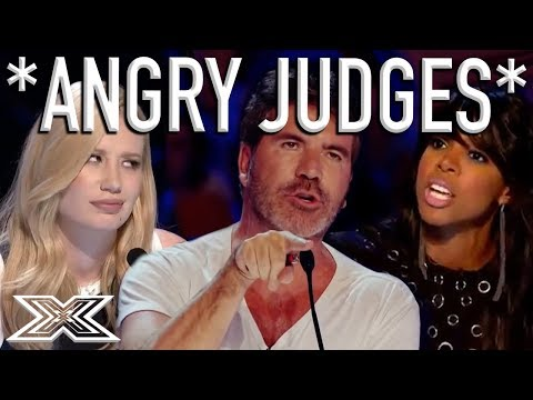 When X Factor Judges Get ANGRY! | X Factor Global (видео)
