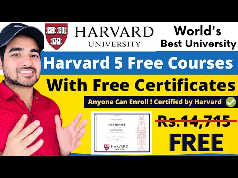 Free Harvard University Courses With Free Certificate | Get Certified Courses | Students | Cs50