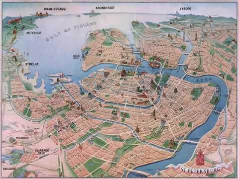 карта санкт петербурга с достопримечательностями и метро