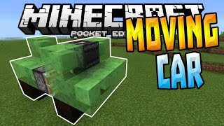 MOVING CARS in MCPE!!! - 1.1+ Slime Block Creation - Minecraft PE (Pocket Edition)