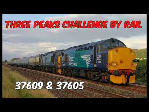 DRS 37605 & 37609 with 'The Three Peaks Challenge by Rail' a…