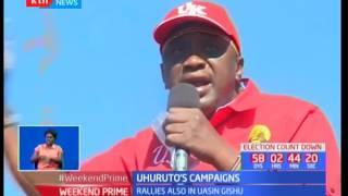 President Uhuru Kenyatta leads Jubilee campaigns in Elgeyo Marakwet as cattle rustlers attack