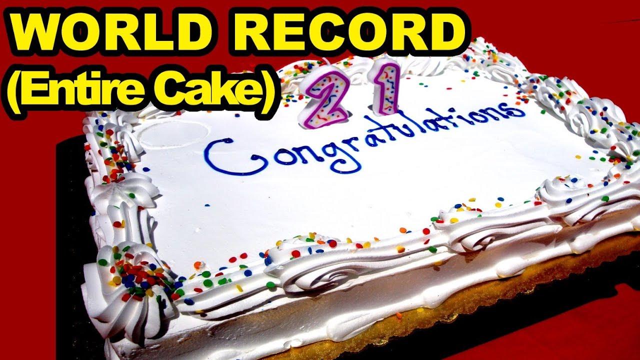Birthday Cake Eating World Record (Entire Cake) thumbnail