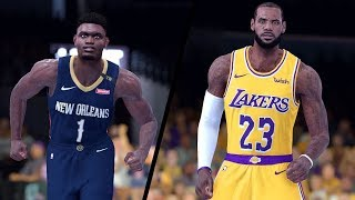 NBA 2K19 - New Orleans Pelicans vs. Los Angeles Lakers - Full Gameplay (Updated Rosters)