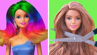 31 AMAZING DOLL TRANSFORMATIONS || Barbie Hacks by 5-Minute DECOR