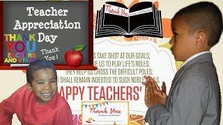 Teacher Appreciation Day | Thank You Letter