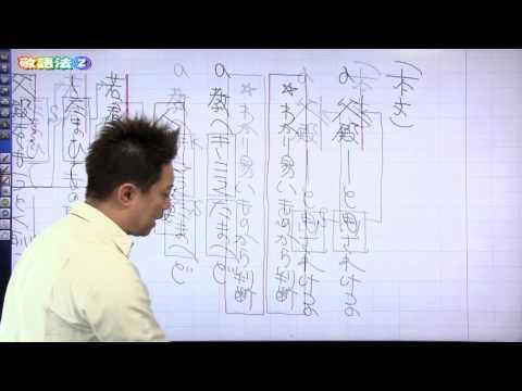 佐藤の「神ワザ」古文 #015 知識8 敬語法2