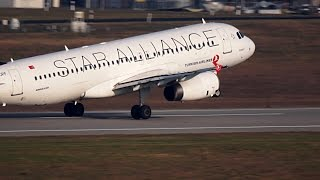 preview picture of video 'Turkish A320 in Star Alliance Livery at Leipzig/Halle Airport (Germany)'