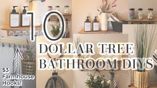 10 DOLLAR TREE BATHROOM DIYS | FARMHOUSE BATHROOM DECOR