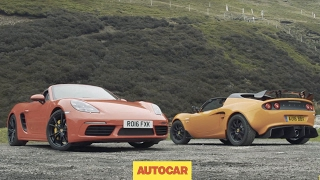 [Autocar] Porsche 718 Boxster S versus Lotus Elise Cup 250 | Review | two great sports cars driven