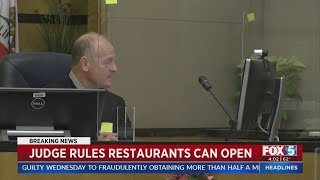 Judge Rules Restaurants Can Open