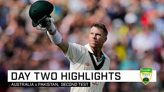 Warner pummels Pakistan before Starc shines under lights | Second Domain Test