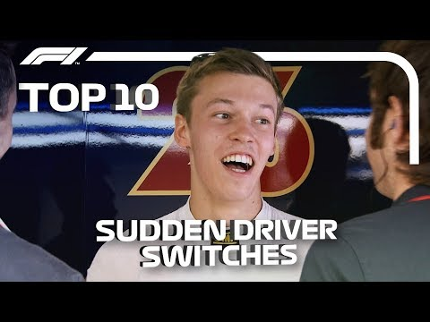 Top 10: Sudden Driver Switches in F1