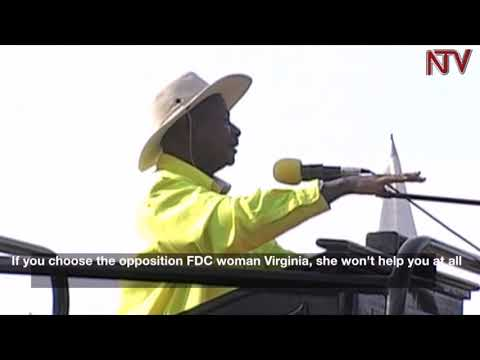 Museveni asks Sheema voters to reject FDC candidates