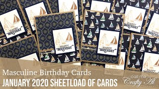 12 Masculine Birthday Cards - January 2020 SheetLoad Of Cards
