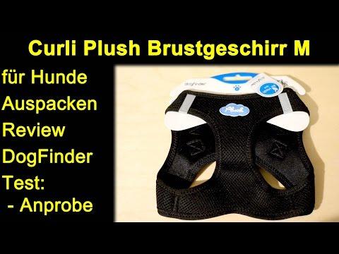 Curli Plush Brustgeschirr M für Hunde - Auspacken Review Test DogFinder Anprobe