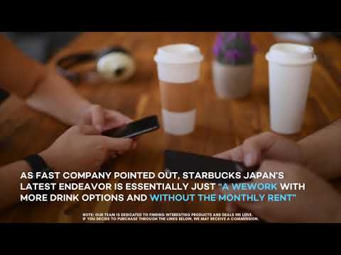 Starbucks' new coworking space in Ginza, Japan!
