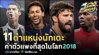 ตัวเทพฟุตบอล ขอเสนอ 11 ตำเเหน่งนักเตะ ค่าตัวเเพงที่สุดในโลก 2018