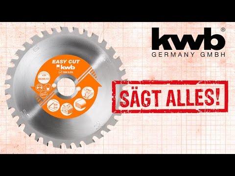 kwb Easy Cut Allzweckblatt - Sägt durch alles!