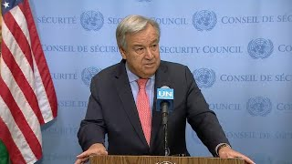 UN Chief on Idlib (Syria) - Security Council Media Stakeout