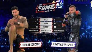 """FAME MMA 1: Hubert """"Ken"""" Korczak vs Krystian """"Krycha"""" Wilczak (Cała Walka)"""