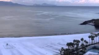 preview picture of video 'Torre Annunziata - Spiaggia innevata - Neve'