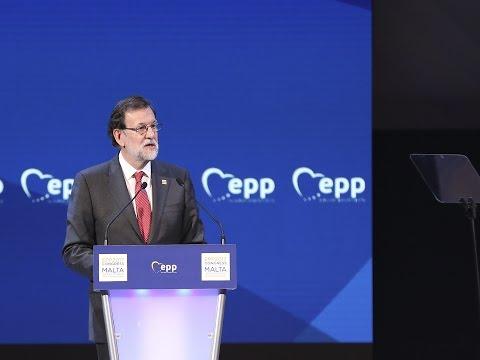 """Rajoy: """"Sigamos defendiendo la libertad, concordia y Estado de Derecho. Hablemos bien de Europa"""