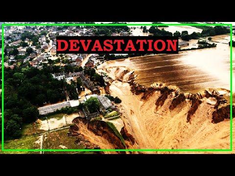 Severe Flooding OBLITERATES Germany & Belgium