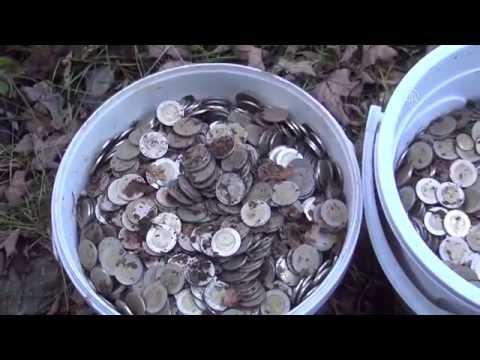 Mantar yerine kovalarla bozuk para topladılar