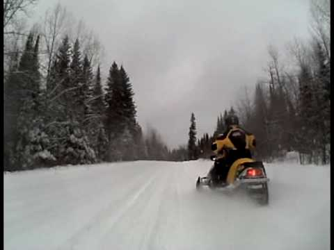 Abitibi Canyon Snowmobile Tour - Ontario Canada