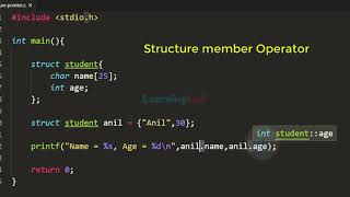 Structure Pointer and Arrow Operator | C Language Tutorial