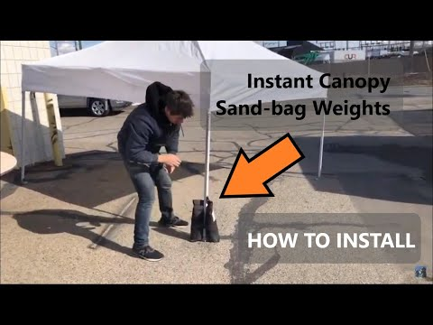 How To Install Sand-Bag Style Pop-Up Weights on your Instant Canopy