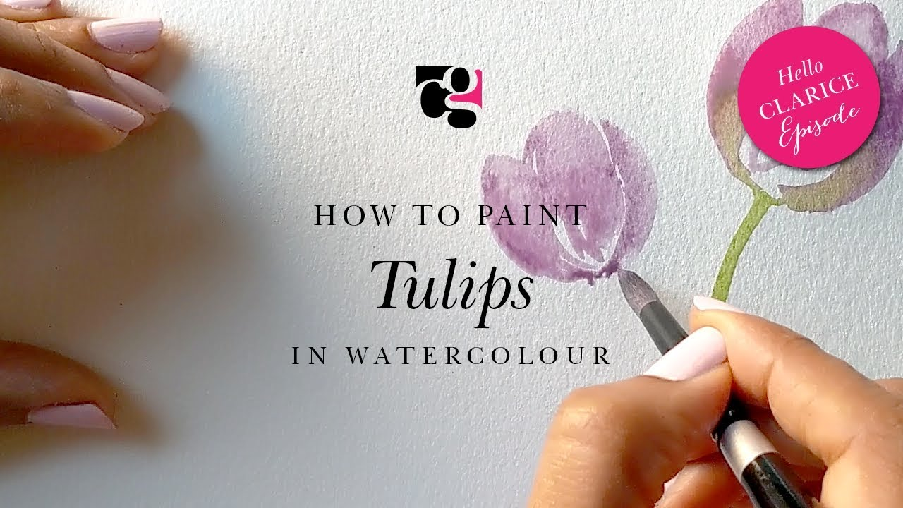 How to Paint Tulips in Watercolour