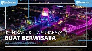 Jembatan Sawunggaling, Ikon Baru Surabaya yang Dilengkapi Lampu Hias dan Air Mancur Menari