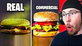 YOU WONT BELIEVE THIS  Food in COMMERCIALS vs REAL LIFE!