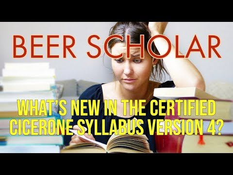 What's new in the Certified Cicerone syllabus v 4? - YouTube