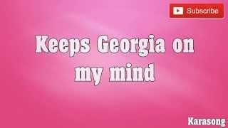GEORGIA ON MY MIND - ( KARAOKE )