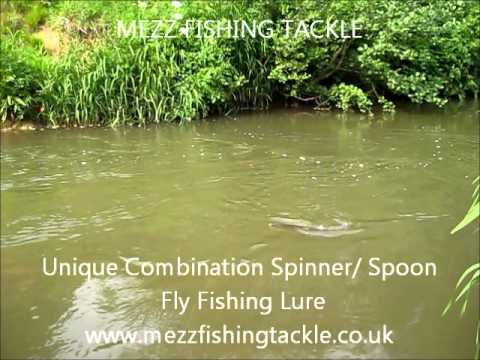 Unique Combination Spinner/Spoon Fly Fishing Lure   MEZZ FISHING TACKLE