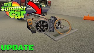 NEW RIMS - GT COVER, CENTER CONSOLE AND STEERING WHEEL - My Summer Car Update #13