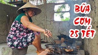 Bữa Cơm 25 Tết | ẾCH ĐỒNG Nướng Sa Tế Trộn Rau Càng Cua | Cơm Trưa Mẹ Nấu #6