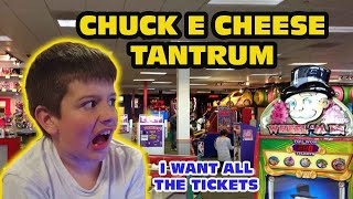Kid Temper Tantrum Returns To Chuck E Cheese [ Original ]
